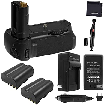 Charger UltraPro Accessory Bundle 4-Pk EN-EL14a Long-Life Batteries Battery Grip Bundle F//Nikon D5600: Includes Vertical Battery Grip