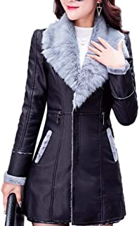 Leathers Winter Women's Daily Military Regular Coat, Contemporary Notch Lapel Long Sleeve Polyester Black//XL
