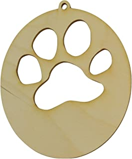 Wooden Dog Paw Wood Ornament/Package of 10