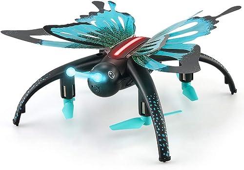 ASD RC Quadcopter FPV,HD Videokamera,Mini Outdoor,WiFi Live übertragung,H -halten,3D Flips,Notlandung,Stabiler Flug,Kopflos-Modus,App Steuern,Ferngesteuertes,Geeignet für Anf er und Profis