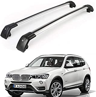 MotorFansClub Roof Rack Cross Bar Fit for BMW X3 F25 2011-2018 Crossbar چمدان چمدان