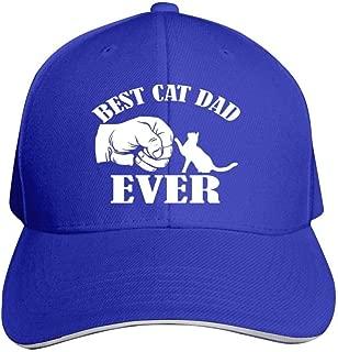Tom Sapira Best Cat Dad EverUnisex Adult Adjustable Peaked Sandwich Hats Trucker Cap Baseball Cap