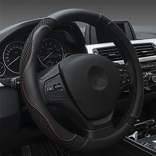Dee-Type Black Car Steering Wheel Covers Universal 15 Inch