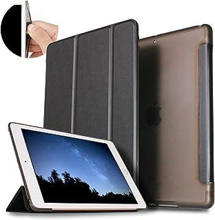 iPadケースソフトTPUサイドエッジタイプiPad Air2[A1566/A1567]専用アイパッドエアー2スマートケース三つ折り保護カバーシンプルクリアバックケース自立スタンド・オートスリープ機能軽量・薄型角割れにく...