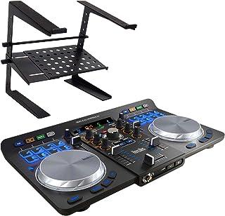 Hercules Universal DJ USB Bluetooth DJ Controller + keepdrum HA-LS20 Soporte de ordenador portátil