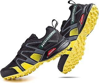 Zapatillas Trail Running Hombre Mujer Impermeables Zapatos Trekking Ligero Botas Senderismo Bajos Multideporte A Amarillo ...