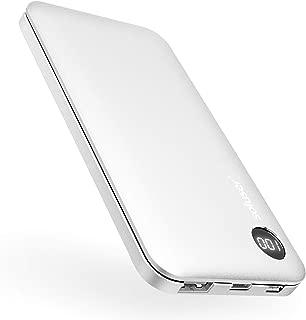 モバイルバッテリー 10000mAh 大容量 バッテリー 2USBポート スマホ携帯バッテリー Soluser【PSE認証済】iPhone&Android対応 (銀)