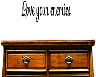Design with Vinyl US V SOS 1001 2 Top Selling Decals Love Your Enemies Wall Art Size: 8 Inches X 30 Inches Color: Black, 8...
