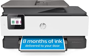 HP OfficeJet Pro 8035 All-in-One Wireless Printer - Includes 8 Months of Ink, HP Instant Ink, Works with Alexa - Basalt (5...
