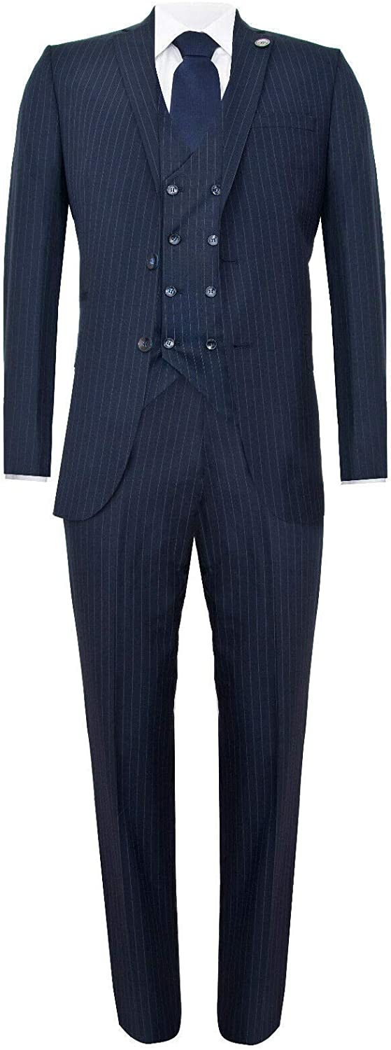 Mens 3 Piece Suit Gatsby 1920s Blinders Gangster trend rank Pinstripe Peaky Long Beach Mall