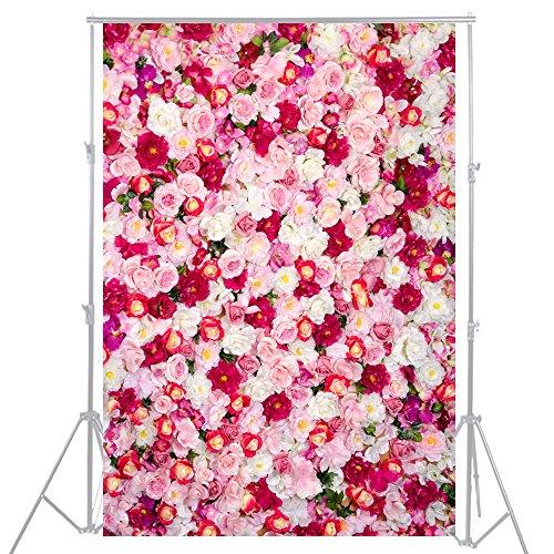 3x 5ft rosa rosa flor, telón de fondo Fotografía de fondo decoración para fiestas cumpleaños mesa mascota bebé recién nacido Photo Props d-1796