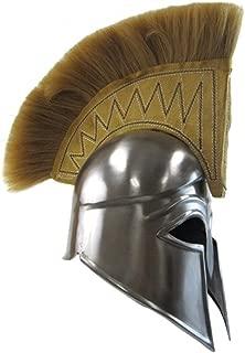 Greek Royal Corinthian Helmet w/Tan Plume - Metallic - One Size