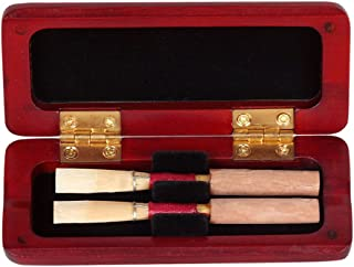 Oboe Reed Case,Fox Oboe Case,Maple Wood Reeds Case Storage Wooden Holder Box Cover for 2pcs Oboe 9.5 x 4 x 1.5cm (Not include Reeds)