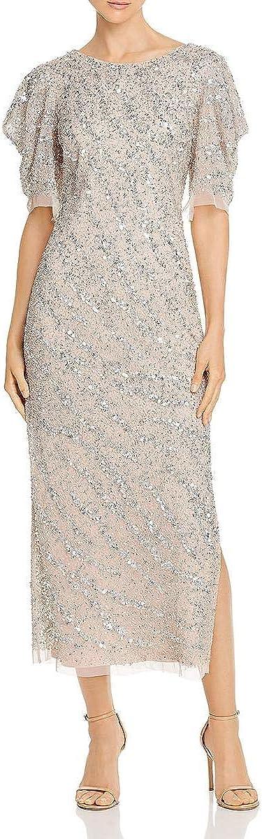 Adrianna Papell Women's Beaded Ankle Length Dress