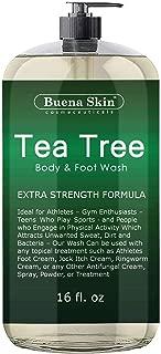 Tea Tree Oil Body Wash - Antifungal Soap for Acne, Body Odor, Foot & Toenails - Antibacterial Shower Soap for Bacteria, Athletes Foot, Eczema, Ringworm & Jock Itch Treatment In Men & Women Buena Skin