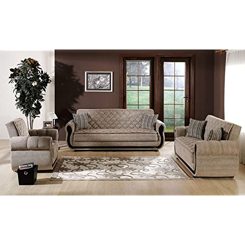 Superbe Argos 2 PC Zilkade Light Brown Living Room Set (Sofa Bed And Loveseat)