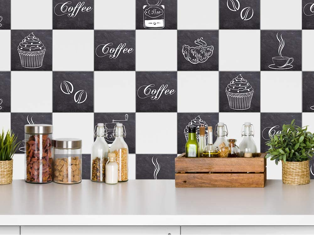 Piastrelle adesive per cucina e caff/è GrazDesign 770530/_15x15/_FS10st 15x15cm