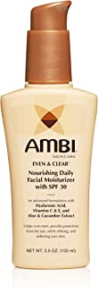 AMBI Even & clear daily facial moisturizer with 30 spf, 3.5 Ounce