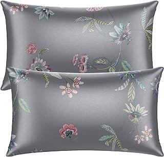Neptten Gray King Size Satin Pillowcase for Hair and Skin. King Satin Pillowcase Set of 2. Soft and Cozy. Satin Pillow Cas...