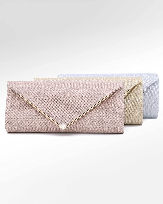 MKOIJN Clutch Purses for Women Wedding Clutch Wedding Dinner Prom Shoulder Bag for Women (Color : Gold)