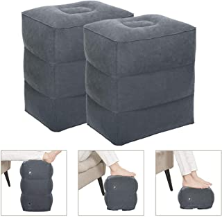WEY&FLY Inflatable Foot Rest Pillow/Height-Adjustable Pillow/Portable Pillow for Aircraft, Train, Car, Long-Distance Travel, Travel Foot Pillow for Children's Rest - Ideal Travel Accessories