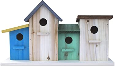 23 Bees 4 Hole Bird House for Outside/Indoors/Hanging   Kits for Children & Adults   Decorative Birdhouse &Home Decoration   Outdoors Feeder for Birds, Bluebirds, Wrens & Chickadees   All Weather