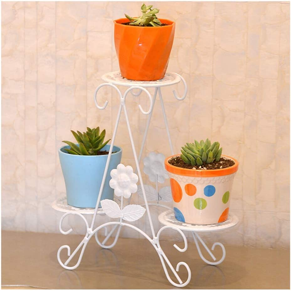LLF-huajia Flower Stand European Wrought 5 popular Mail order cheap Iron Three-Tier