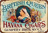 Britische Queen Havanna Zigarren, Vintage, Reproduktion, Metall, Dose mit 12x 18cm