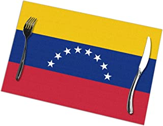 shirt home Venezuela Flag Pattern Table Placemats for Dining Table,Washable Table Mats Heat-Resistant(12X18 Inch) Set of 6
