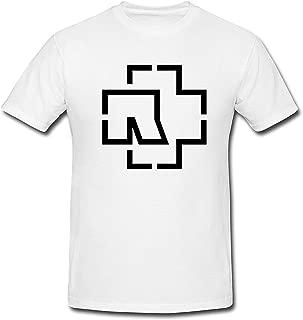 SEagleo2 Men's Black Line Draw Rammstein Pattern T-Shirt