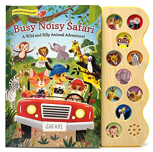 Busy Noisy Safari: Interactive Children s Sound Book (Interactive Early Bird Children s Song Book with 10 Sing-Along Tunes)