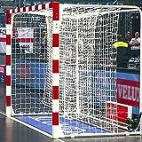 FORZA Filets de Remplacement pour Buts de Handball 3m x 2m – Filet Blanc de Qualité Professionnelle (Simple)