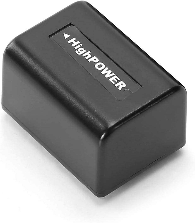 NP-FV5 Plus Rechargeable Camcorder Battery 3.7V 2000mAh Battery for Sony DV for Andoer 524KM 4K WiFi 1080P Digital Video Camera 2000mAh, Black