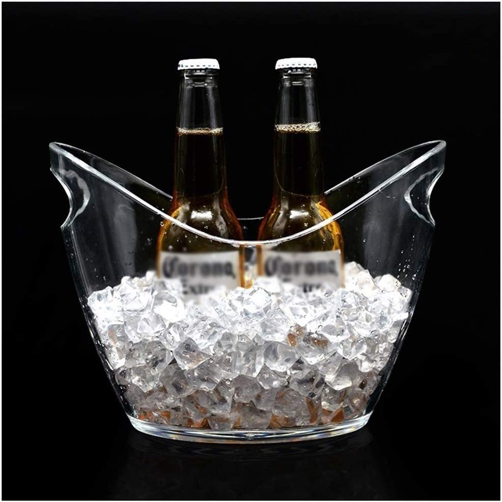 Beverage cooler Lighted LED Spring new work one after another Ice Tub Max 63% OFF Oval C Drink Bucket