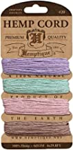 Hemptique Hemp Cord 4 Color Cards - Made with Love - Crafter's No. 1 Choice – Eco Friendly – Plant Hanger - Scrapbooking – Gardening – Macramé – Home Décor (Vintage Pack)