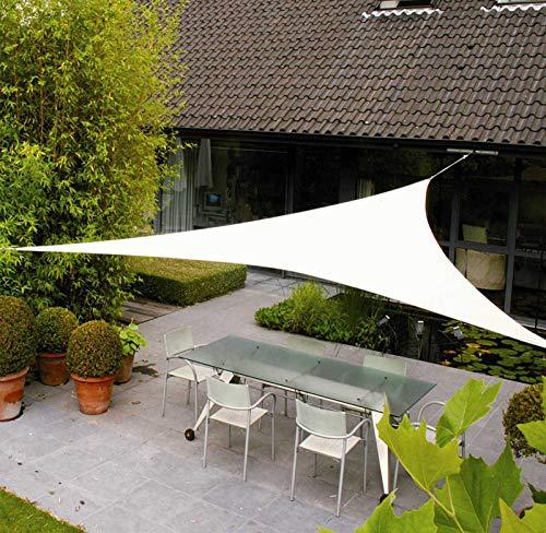 AXT SHADE Toldo Vela de Sombra Triangular 5 x 5 x 5 m, protección Rayos UV Impermeable para Patio, Exteriores, Jardín, Color Crema