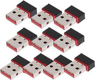 محول واي فاي USB صغير 10 قطع من FRCOLOR بطاقة شبكة لاسلكية وبدون واي فاي لمحول أجهزة الكمبيوتر المحمول/المكتب/الكمبيوتر