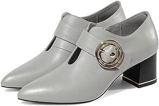 KTYXDE Women's Shoes Formal Shoes Pointed High Heels Work Shoes Zipper Fashion Casual Shoes Formal Wedding Party Dance Shoes 34-39cm Women's Shoes (Color : Gray, Size : 34 EU)