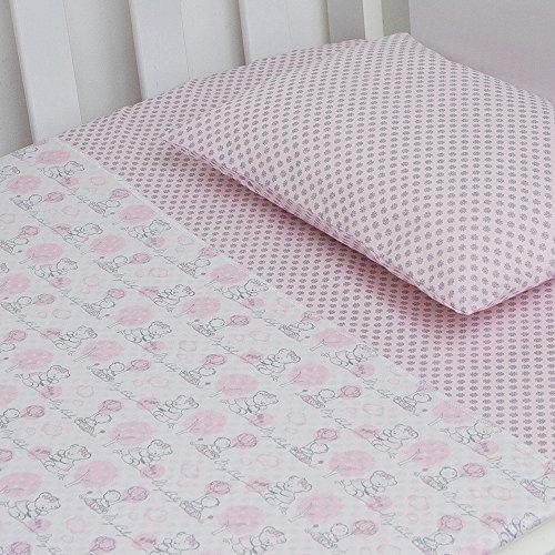 Jogo De Berço Compose 03 Peças, Papi Textil, Rosa, Americano