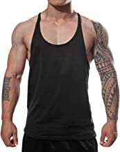 Manstore Men's Gym Stringer Tank Top Bodybuilding Athletic Workout Muscle Fitness Vest