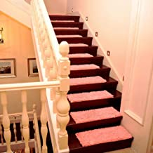 Staircase Carpet,EHOMEBUY Carpet Chenille Staircase Tread Pads Sold by 1 Piece Non Slip Mat for Living Room Solid Color Pi...