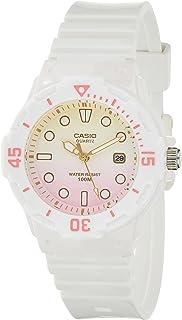 ساعة كاسيو متعدد الالوان بسوار من البلاستيك المطاطي للسيدات LRW-200H-4E2VDF