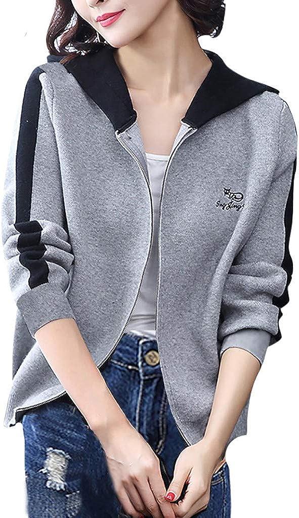 Leewa Hooded Ranking TOP17 Sports Coats Women's Swe Selling Zip Jackets Elegant