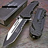 Best Mtech USA Knives - MTECH USA Mtech Ballistic Black Tanto Blade Rescue Review