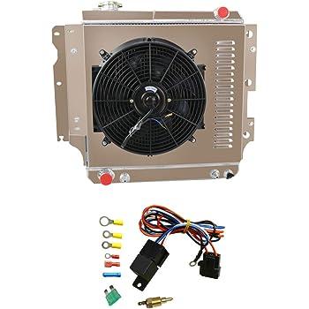 16 Electric Cooling Fan For 1987-2006 Jeep Wrangler YJ TJ 2.4L 4.2L ALLOYWORKS Fan Shroud