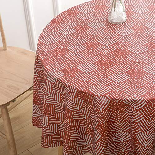 Vinylla - Mantel de PVC, fácil de Limpiar, Color Rojo Coral, Diameter 160 cm