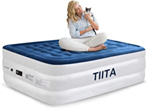 TIITA Air Mattress Twin Size Luxury Raised Airbed, Blow Up Inflatable Upgraded with Built-in Electric Pump, Bed Height: 20