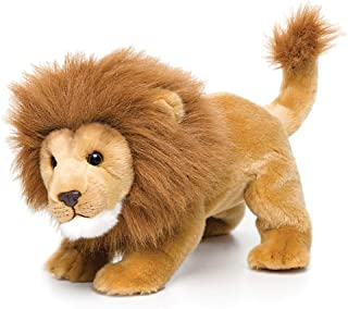 DEMDACO Crouched Large Lion Friend Light Brown Children's Plush Stuffed Animal Toy
