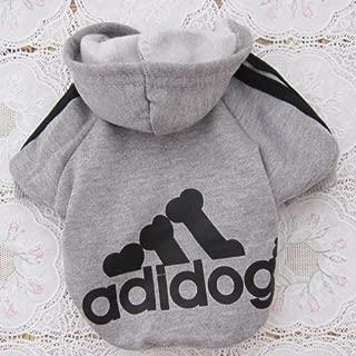 Tzou Adidog Hoodie Pet Clothes Dog Sweater Puppy Sweatshirt Warm Small Coat Christmas Gift 1-pc Set