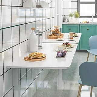 JFFFFWI Table Pliante Table Murale Pliante Table Murale Rabattable Bureau d'ordinateur Cuisine Table de Salle à Manger Pli...